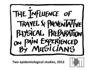 Two epidemiological studies, 2012