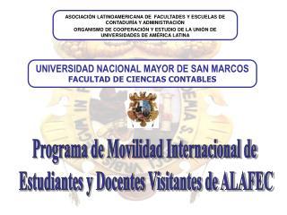 Programa de Movilidad Internacional de  Estudiantes y Docentes Visitantes de ALAFEC