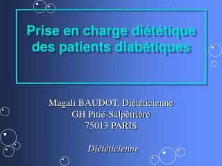 Prise en charge diététique des patients diabétiques