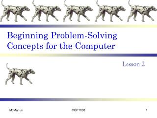 Beginning Problem-Solving Concepts for the Computer