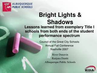 Bright Lights  Shadows
