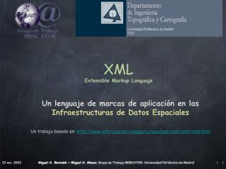 XML Extensible Markup Languaje