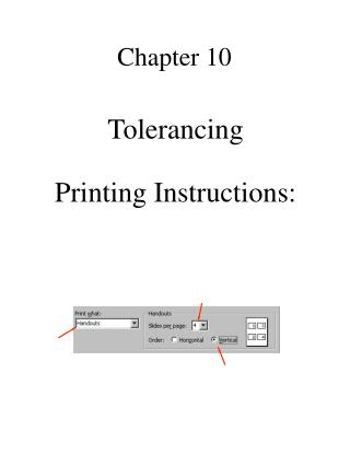 Tolerancing  Printing Instructions:
