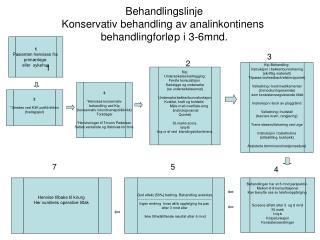 Behandlingslinje Konservativ behandling av analinkontinens  behandlingforløp i 3-6mnd.