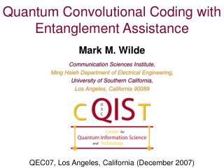 Quantum Convolutional Coding with Entanglement Assistance
