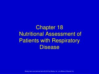 Chapter 18  Nutritional Assessment of Patients with Respiratory Disease