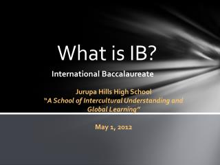 What is IB?