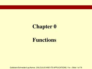 Chapter 0 Functions