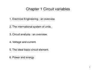 Chapter 1 Circuit variables