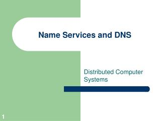 Name Services and DNS