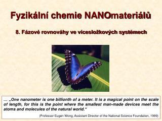 Fyzikální chemie  NANO materiálů