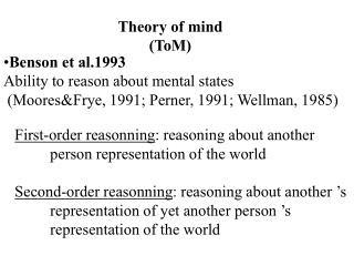 Theory of mind ToM