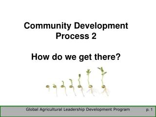 Community Development Process 2  How do we get there?