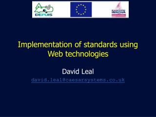 Implementation of standards using Web technologies