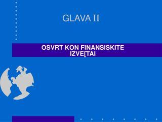 GLAVA  II