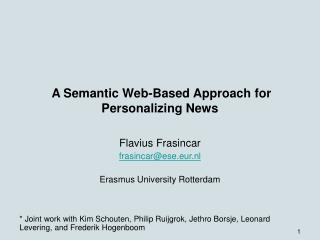 A Semantic Web-Based Approach for Personalizing News