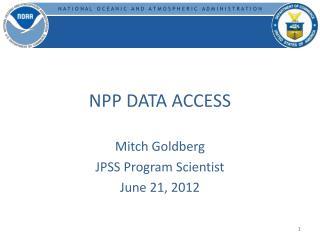 NPP DATA ACCESS