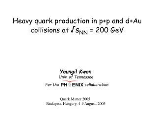 H eavy quark production  in p+p and d+Au collisions at √s NN = 200 GeV