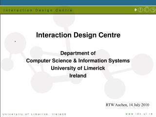 Interaction Design Centre