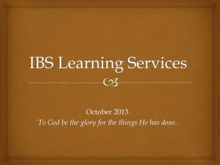 IBS Learning Services