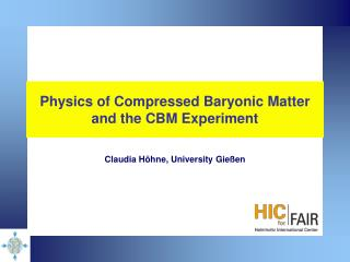 Physics of Compressed Baryonic Matter and the CBM Experiment