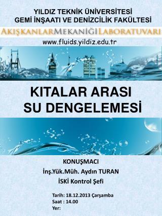 KITALAR ARASI  SU DENGELEMESİ