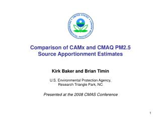 Comparison of CAMx and CMAQ PM2.5 Source Apportionment Estimates