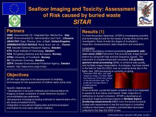 Seafloor Imaging and Toxicity: Assessment of Risk caused by buried waste SITAR