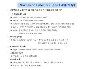 Nozzles on Detector ( RENO  검출기 용 )