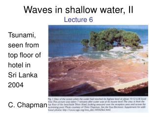 Waves in shallow water, II Lecture 6