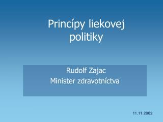 Princípy liekovej  politiky