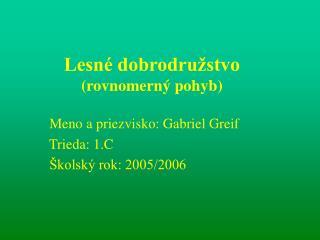 Lesné dobrodružstvo (rovnomerný pohyb)