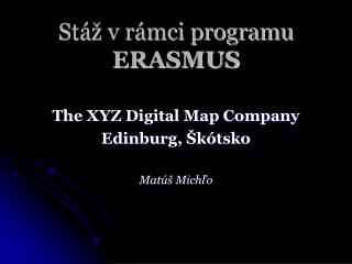 Stáž v rámci programu  ERASMUS