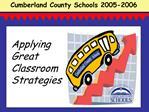 Applying Great Classroom Strategies