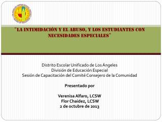 Distrito Escolar Unificado de Los Ángeles División de Educación Especial
