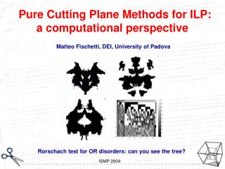 Pure Cutting Plane Methods for ILP: a computational perspective