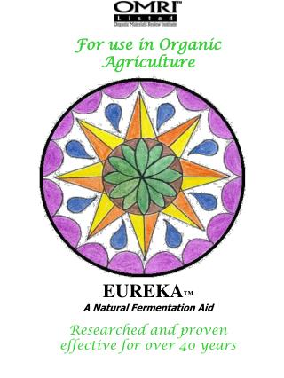 For use in Organic Agriculture