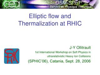 Elliptic flow and Thermalization at RHIC