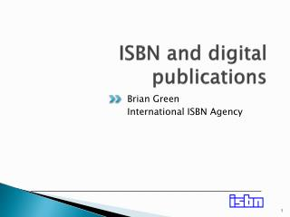 ISBN and digital publications