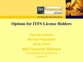 Options for ITFS License Holders