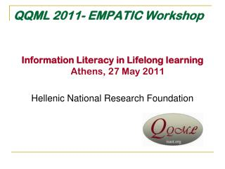 QQML 2011-  EMPATIC Workshop