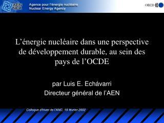 L'énergie nucléaire dans une perspective de développement durable, au sein des pays de l' O C D E