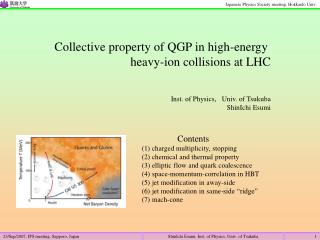 Collective property of QGP in high-energy  heavy-ion collisions at LHC