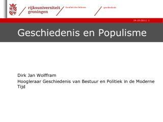 Geschiedenis en Populisme