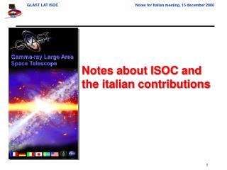 Notes about ISOC and the italian contributions