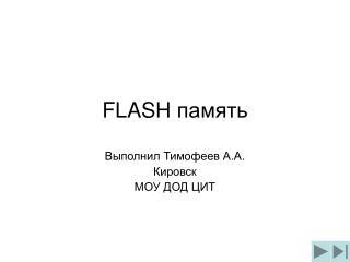 FLASH  память