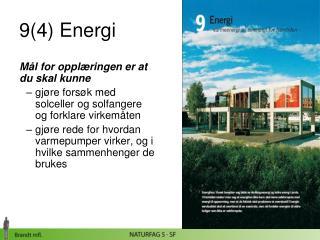 9(4) Energi