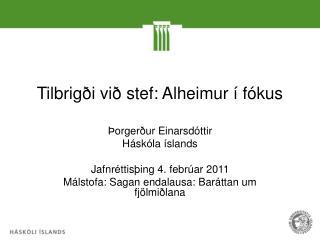 Tilbrigði við stef: Alheimur í fókus