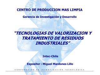 TECNOLOGIAS DE VALORIZACION Y TRATAMIENTO DE RESIDUOS INDUSTRIALES