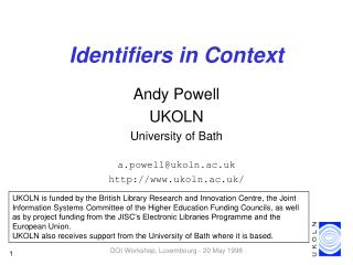 Identifiers in Context